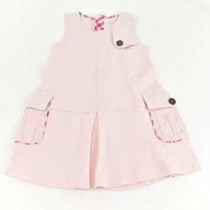 "BURBERRY Pale Pink & ""Nova Check"" Sleeveless Dress"